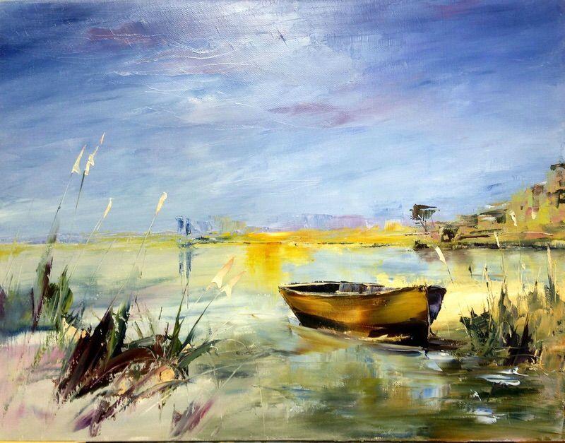 Stage peinture au couteau (huile sur toile) 61 X 46 cm | Peinture au couteau, Peinture, Huile ...