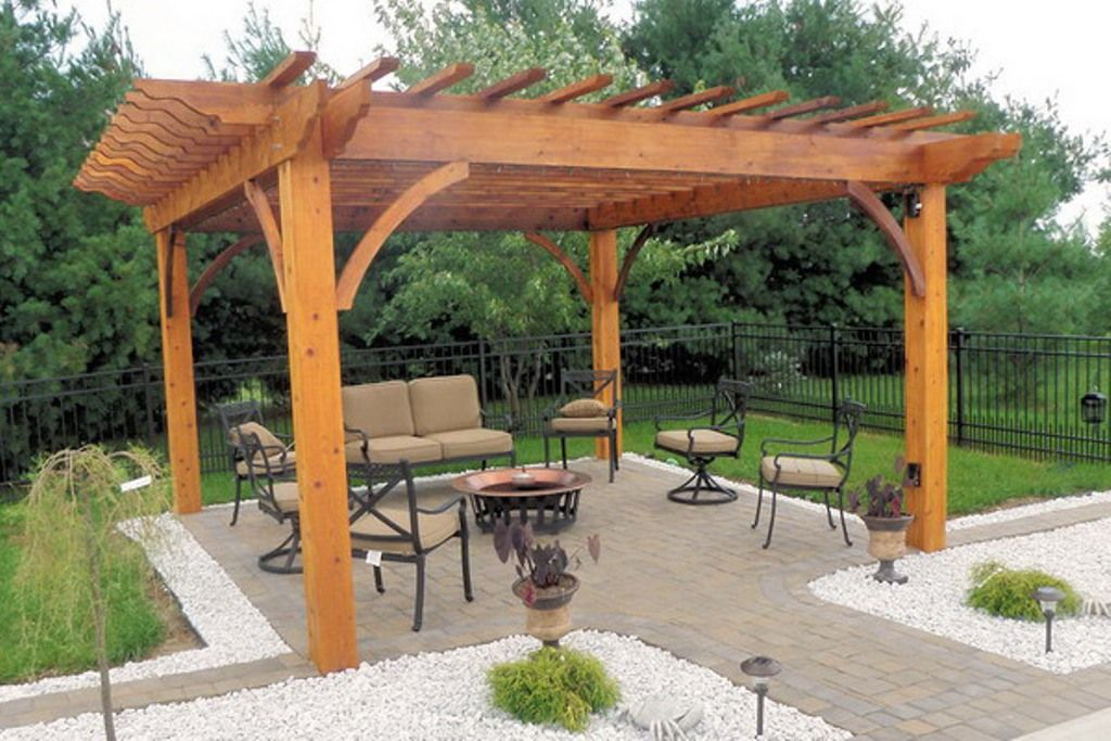How to build a freestanding patio cover covered patio for Diy free standing pergola