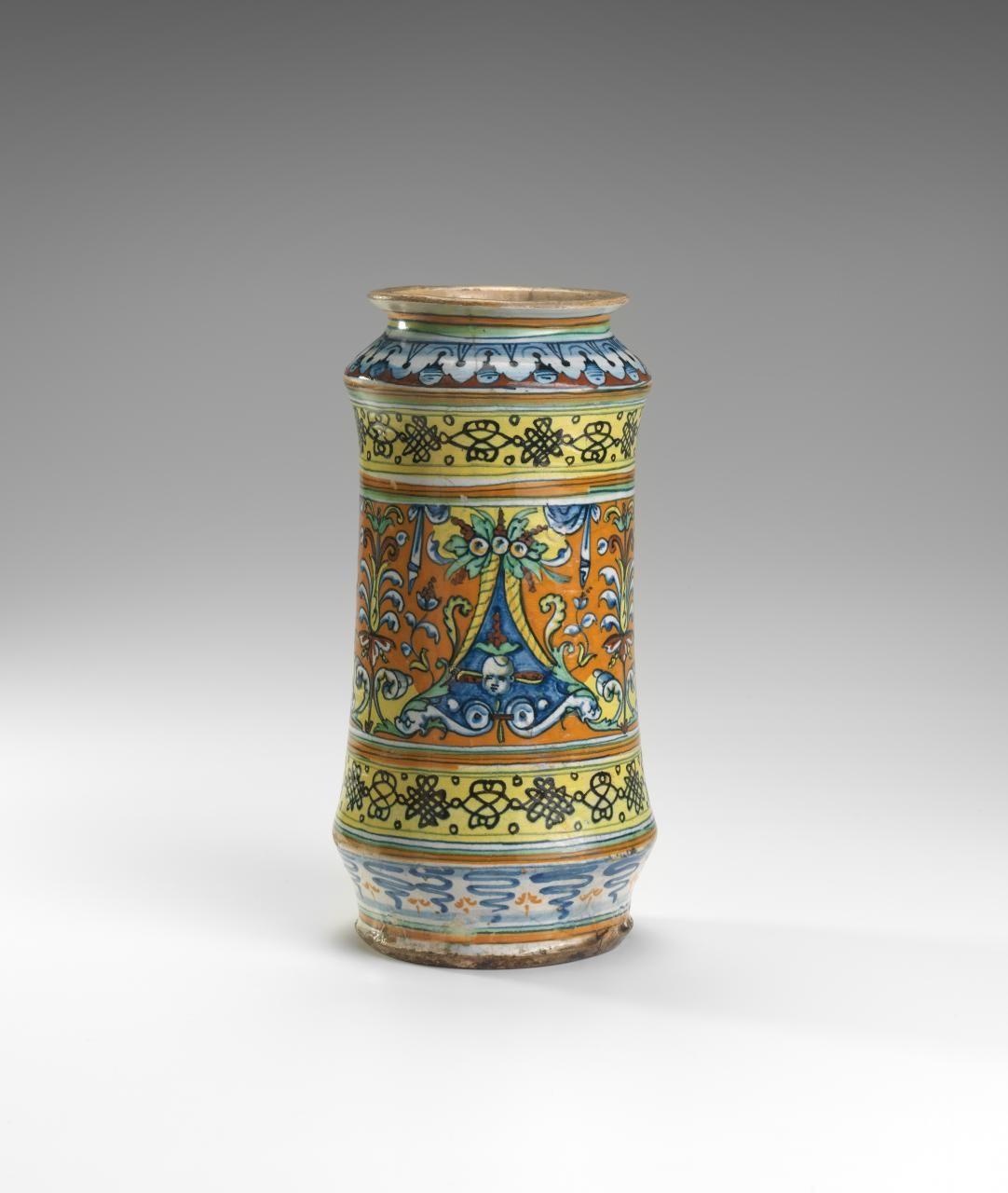 Pharmacy Jar Italy Siena Manufacturer Ngv View Work Italian Ceramics Ceramic Pottery Siena