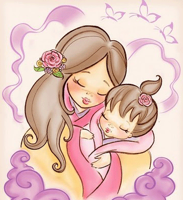 Ninas Con Mama Para Imprimir Imagenes Y Dibujos Para Imprimir Tatuagem De Tigre Branco Mae E Filha Desenho Ilustracao De Familia