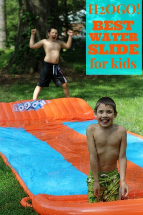 Are you ready for summer? The weather is heating up and it is time to break out the outdoor water toys. My boys have decided that the H2OGO! Triple Slider water slide is the best water slide for kids. Find out how easy it is to set up. No more fussing and whining while the kids wait for mom to get it ready just tons of splashing fun. #backyardsummerfun #ad
