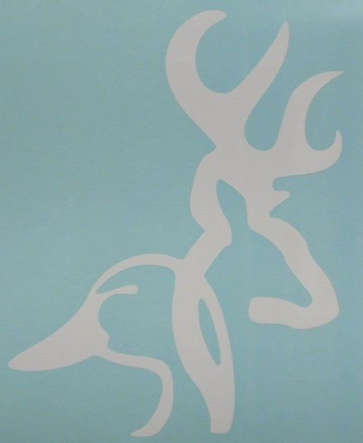 Browning Buck Duck Deer Head WHITE ONLY Car Truck Window Vinyl - Browning vinyl decals