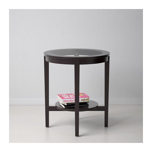 Malmsta Side Table Black Brown 21 1 4 Ikea Black Side Table Side Table Ikea