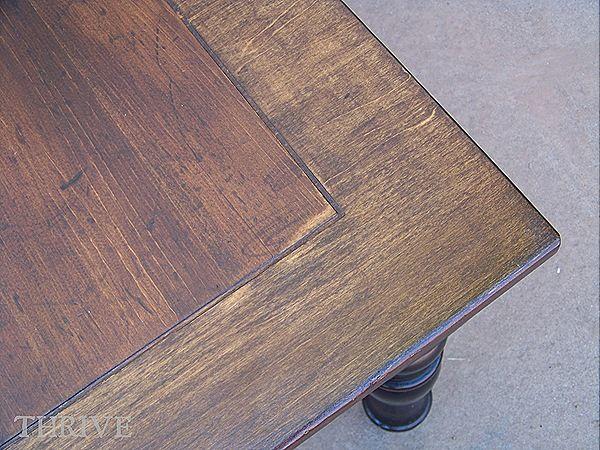 Broyhill Fontana refinishedDark Walnut stain from Minwax on the