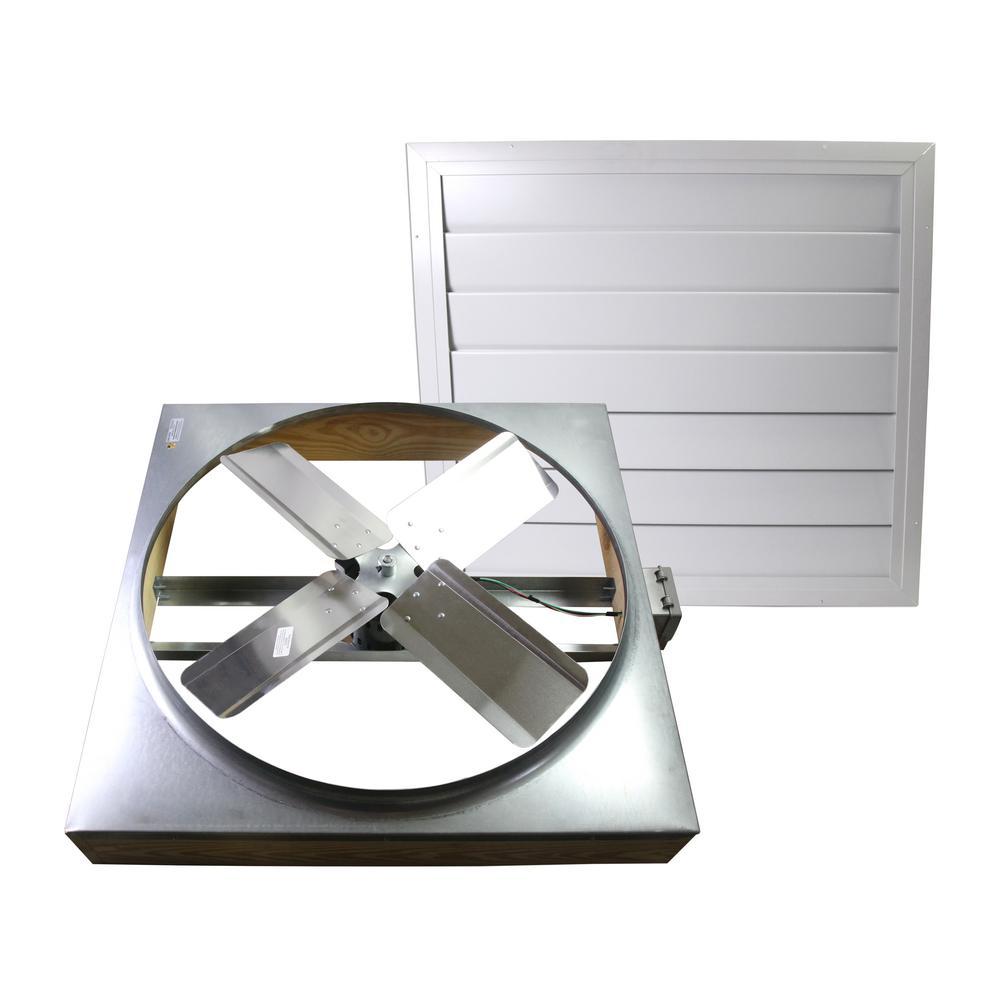 Cool Attic 24 In 4600 Cfm Direct Drive Whole House Fan With Wi Fi Controls Cx242ddwthub Whole House Fan House Fan Attic Fan