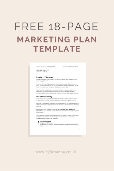 Best 25 Marketing Plan Template Ideas On Pinterest