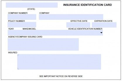 Download Auto Insurance Card Template | Id card template ...