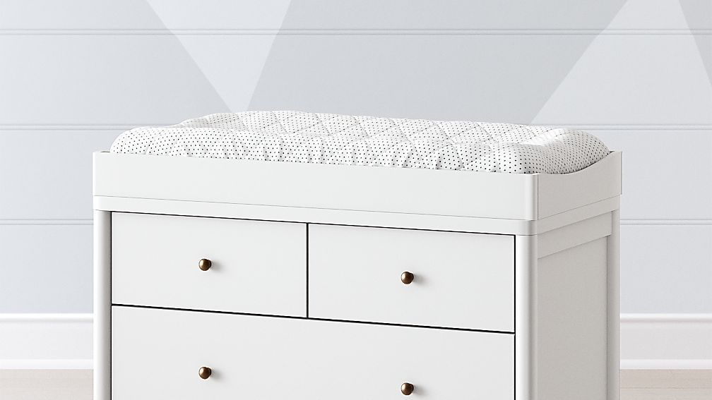 Hampshire white changing table topper white changing