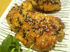 鶏むね肉の照り焼き~プチプチごま風味~♪