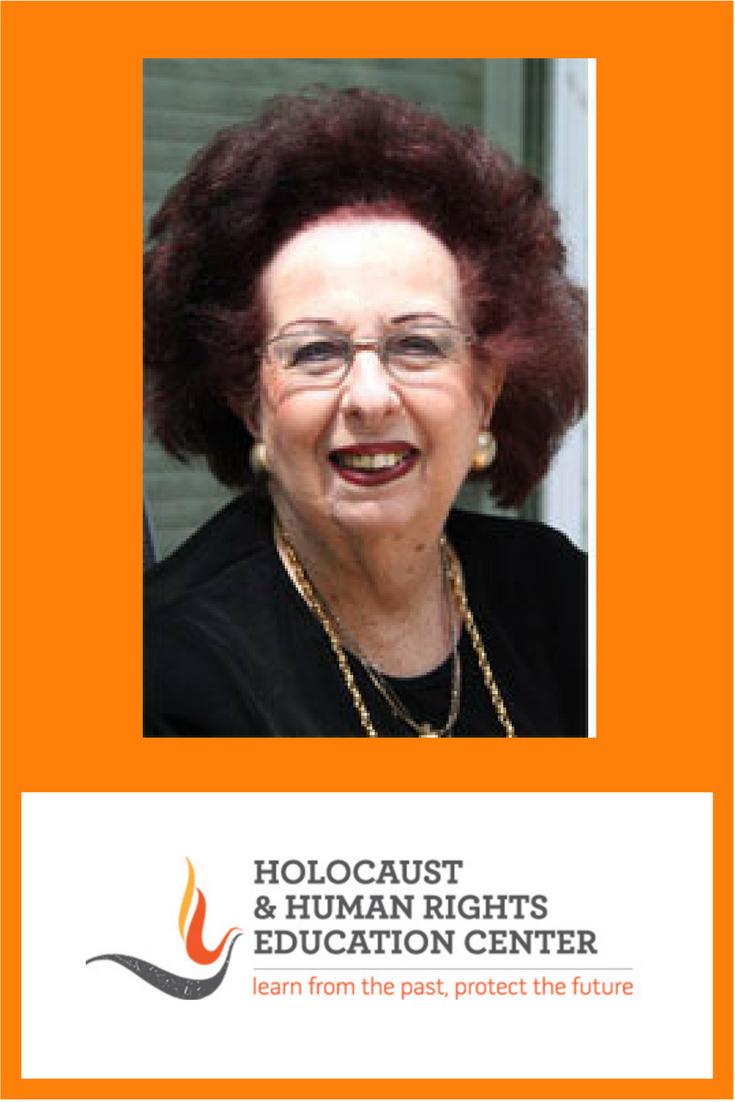 """Bettina Graf, Holocaust Survivor: Bettina's presentation will cover her life under the Nazi occupation in Vienna, Austria and Kristallnacht, as well as her experience during the """"blitz"""" (intensive Nazi bombing) in London, and being on a ship, which was torpedoed by the Nazis but to which her family survived and her arrival to the United States."""