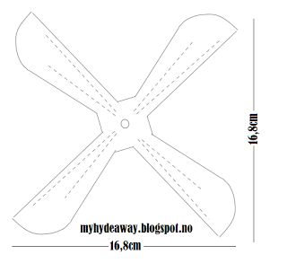 my craft and garden tales template for a paper helicopter