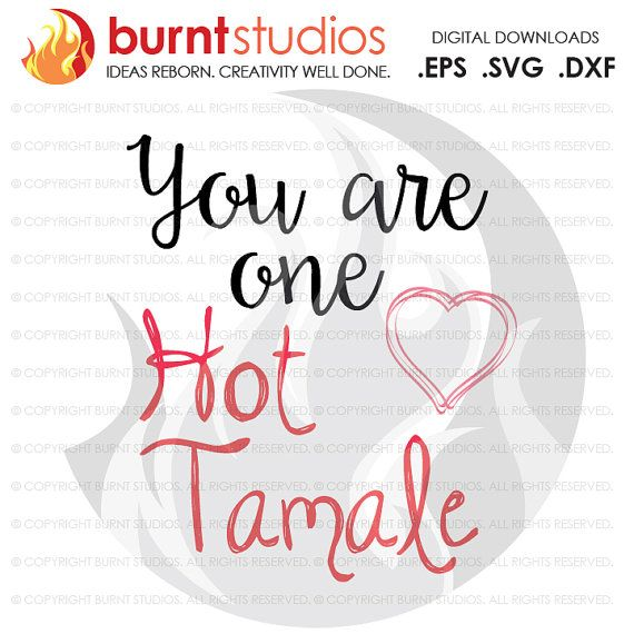 You Are One Hot Tamale   Svg/EPS/DXF file by BurntStudios on Etsy