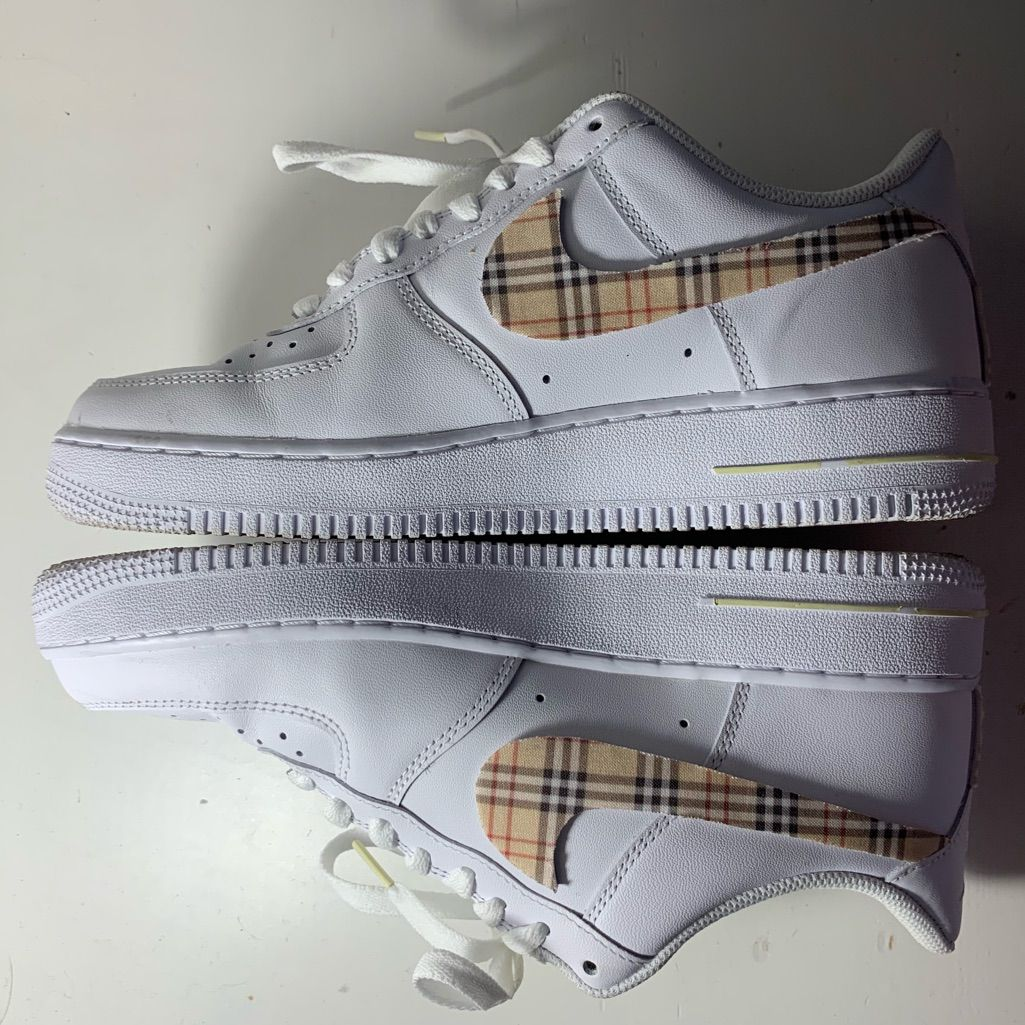 Burberry Shoes Burberry Air Force 1s Color Tan/White