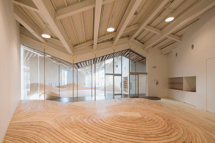 Kengo Kuma S Community Center Has An Undulating Playroom Kengo