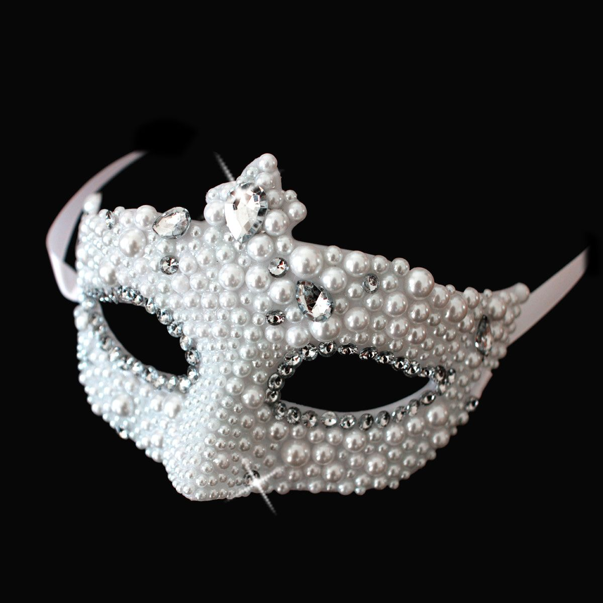 Masquerade mask masquerade mask vine mask metal lace masquerade - 3pcs Free Shipping Rhinestone Handmade Mask Luxury Diamond Masquerade Masks Princess Bride Mask China