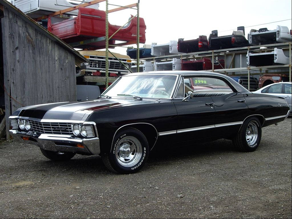 1967 Chevy Impala Four Door Supernatural Black Hunter Baby