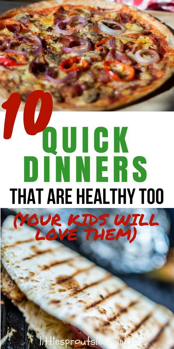 One thing that's a struggle EVERY SINGLE DAY is what to have for dinner. Here are a bunch of quick dinners your kids will love! (and they are healthy)