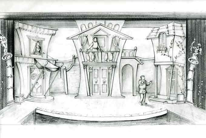 Forum Drawing Scenic Design Sketch Scene Design Set Design Theatre