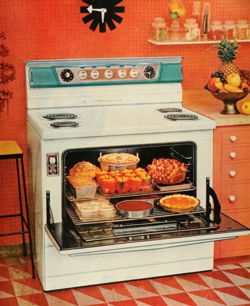 Kitchy Kitchen Decor: 1955 Westinghouse Range Advertisement Betsgal