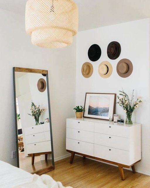 Photo of Industrial Metal & Wood Framed Floor Mirror