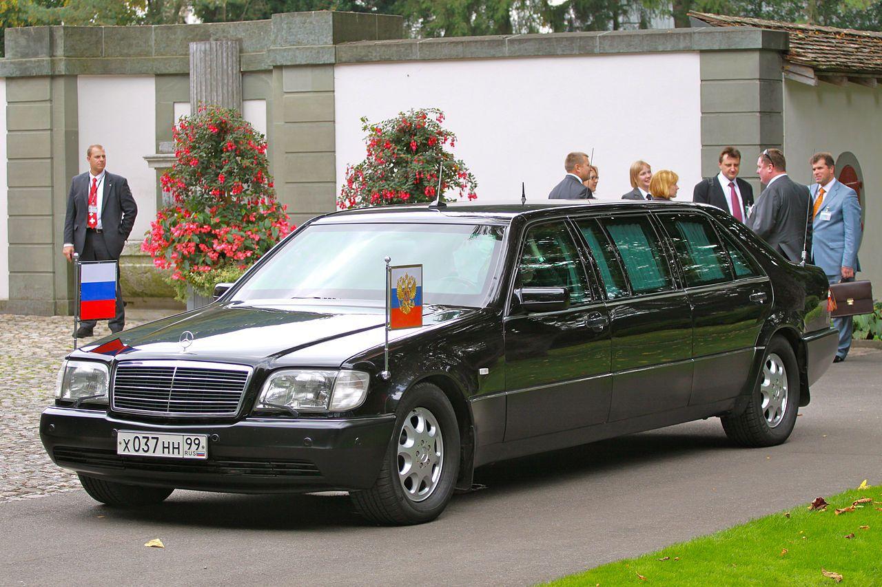 W140 S600 Pullman Russian President Dmitri Anatoljewitsch