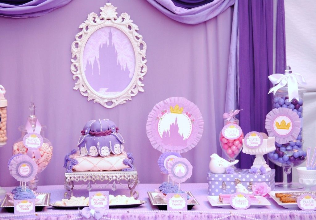 Walt Disney Theme Baby Shower Ideas Purple Princess Party Baby