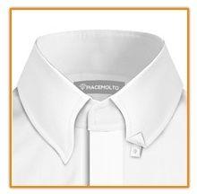 Button down collar - hidden buttons