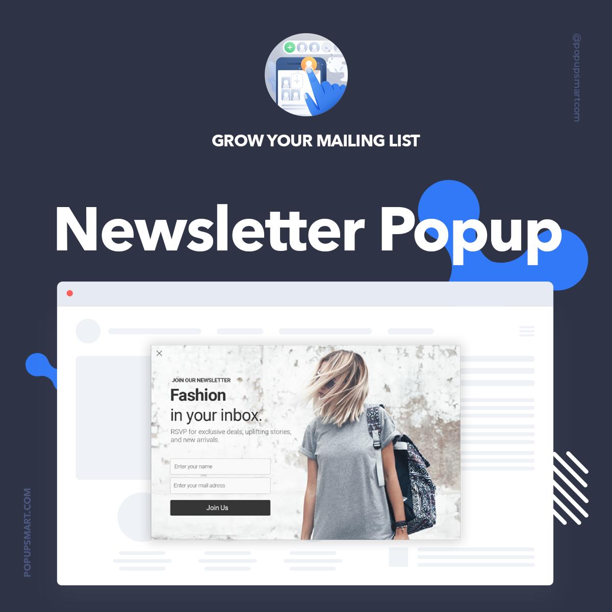 Newsletter Popup | Popup Designs | Creating a newsletter