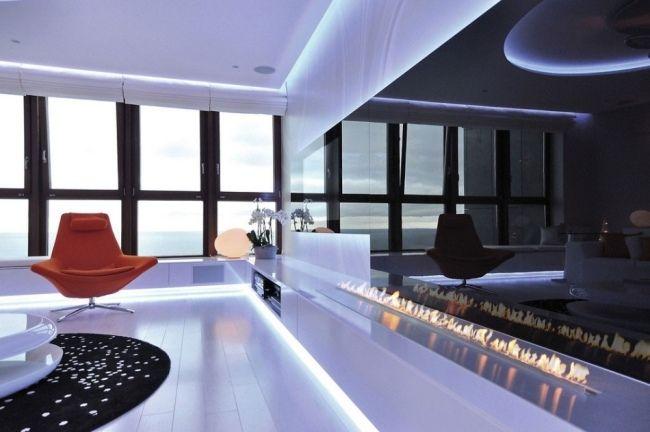 wohnung led ambientebeleuchtung wohnzimmer hochglanz Modernes - beleuchtung für wohnzimmer