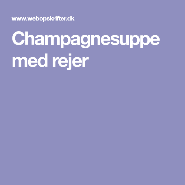 champagnesuppe