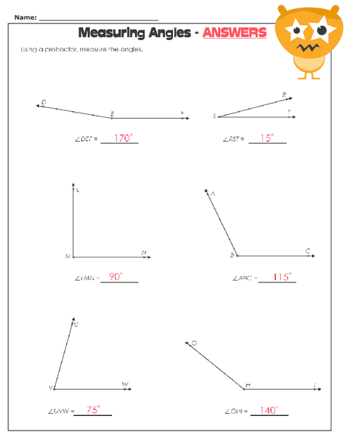 Measuring Angles Worksheet – Angle Measurement Worksheets