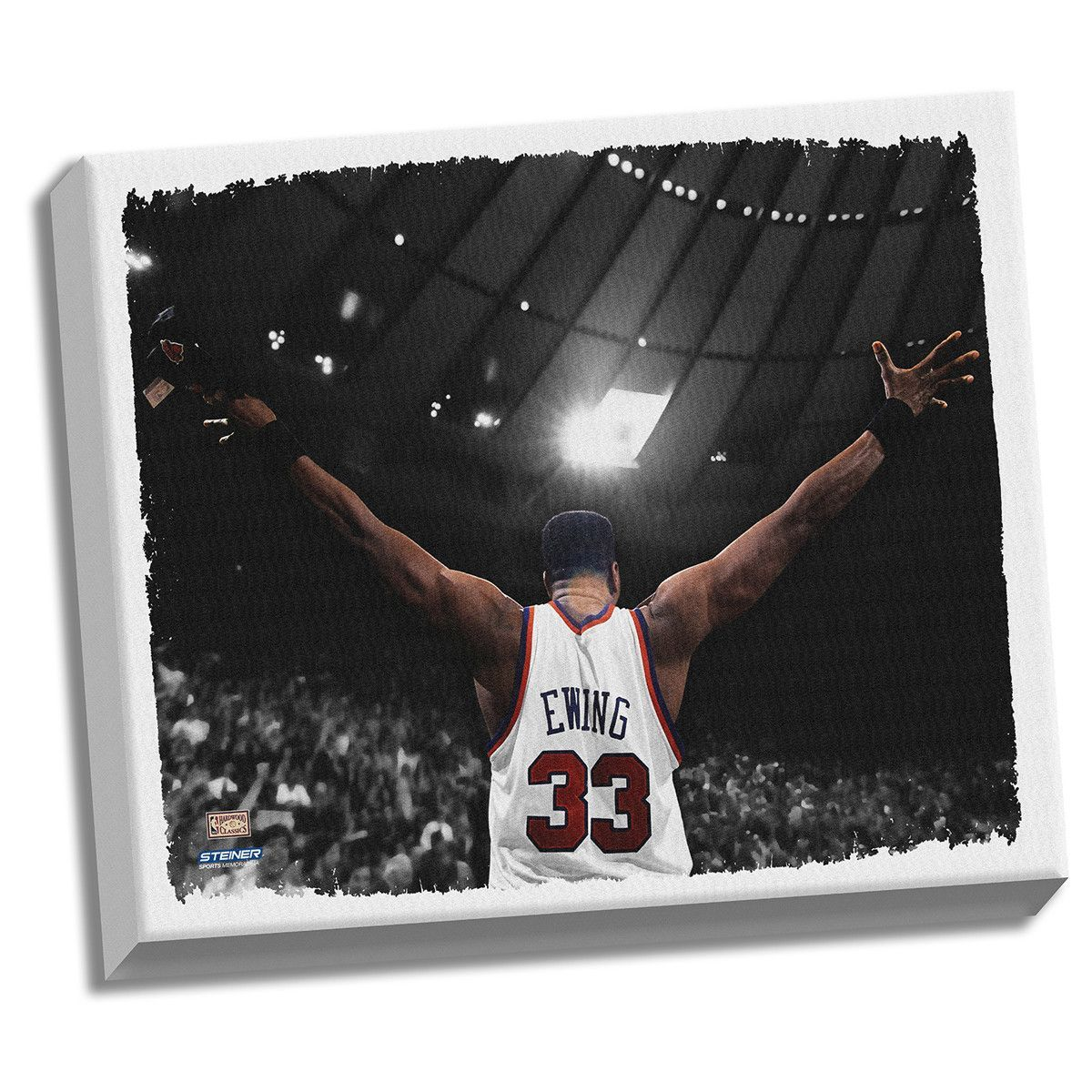 Patrick Ewing Arms Out Stretched 32X40 Canvas Uns