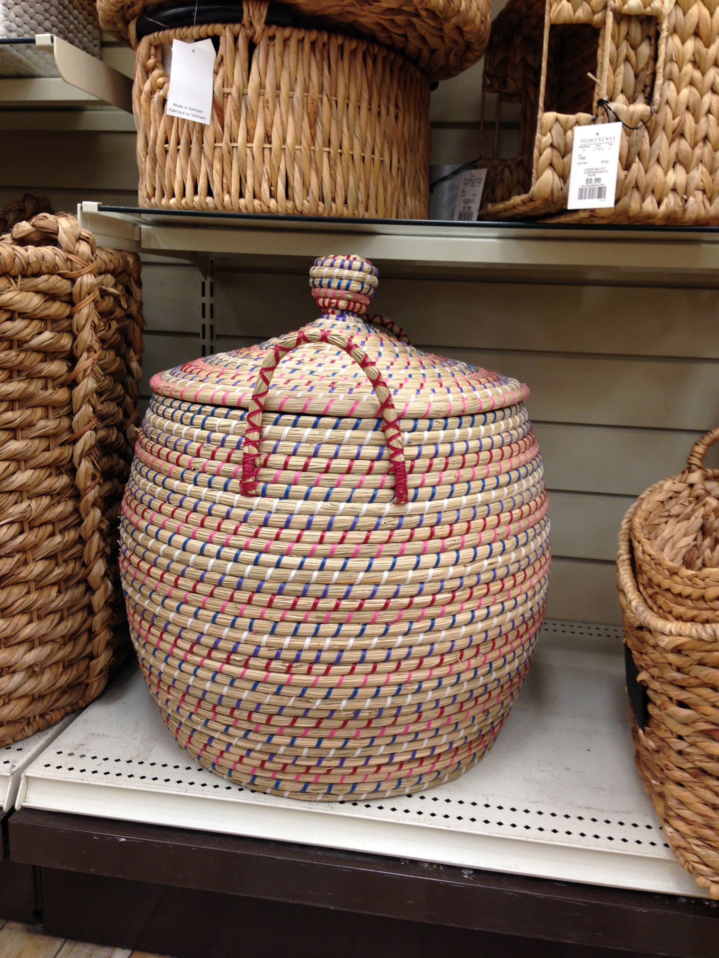 Oversized Woven Baskets   Spotted By Marie Eve Best At HomeSense |  Homesense.ca | #basket #storage #homeorganization