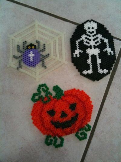 Halloween Nous Voilà Créations En Perles Hama Création Perles à