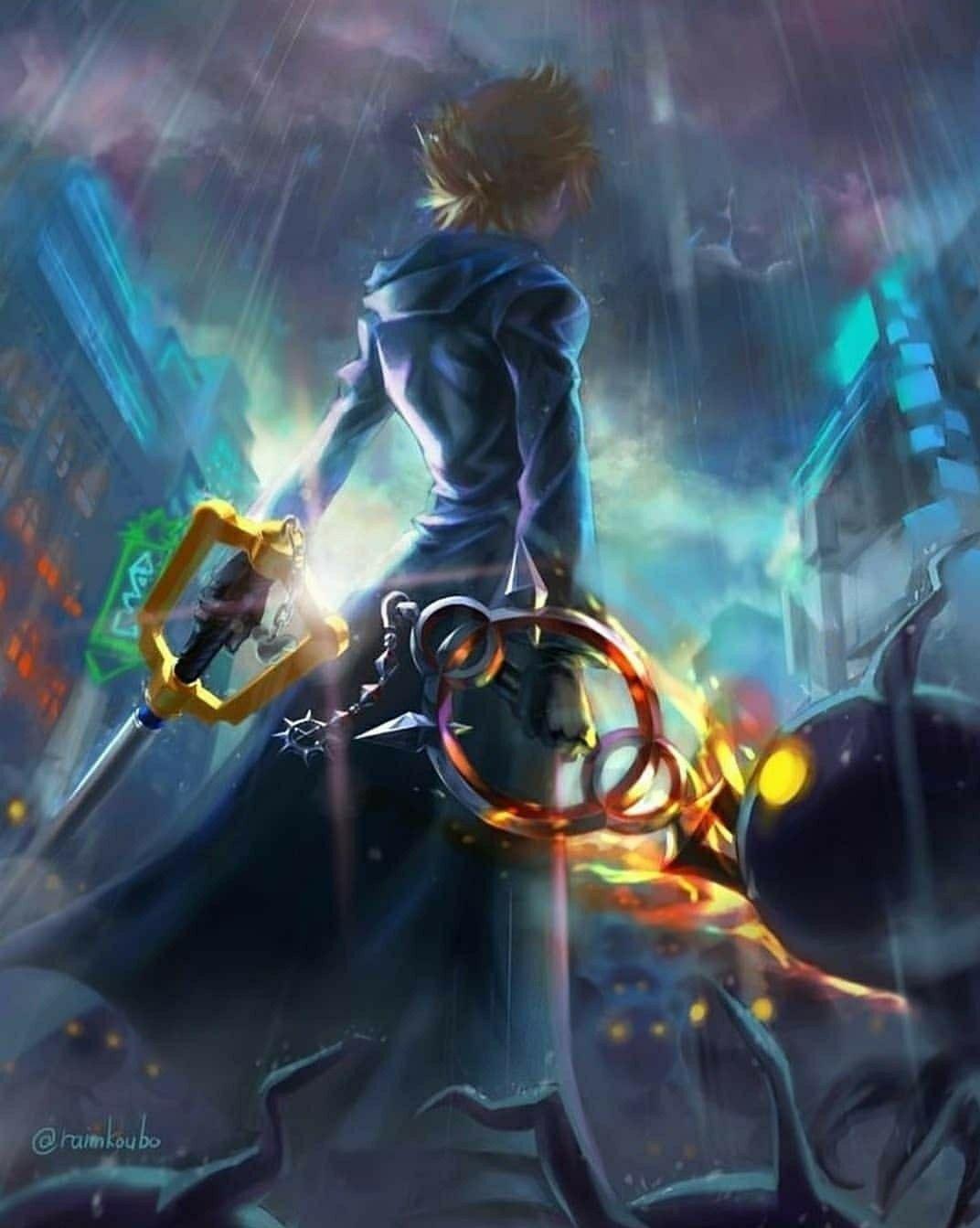 Pin By Naruto On Roxas Kingdom Hearts Wallpaper Kingdom Hearts Fanart Roxas Kingdom Hearts
