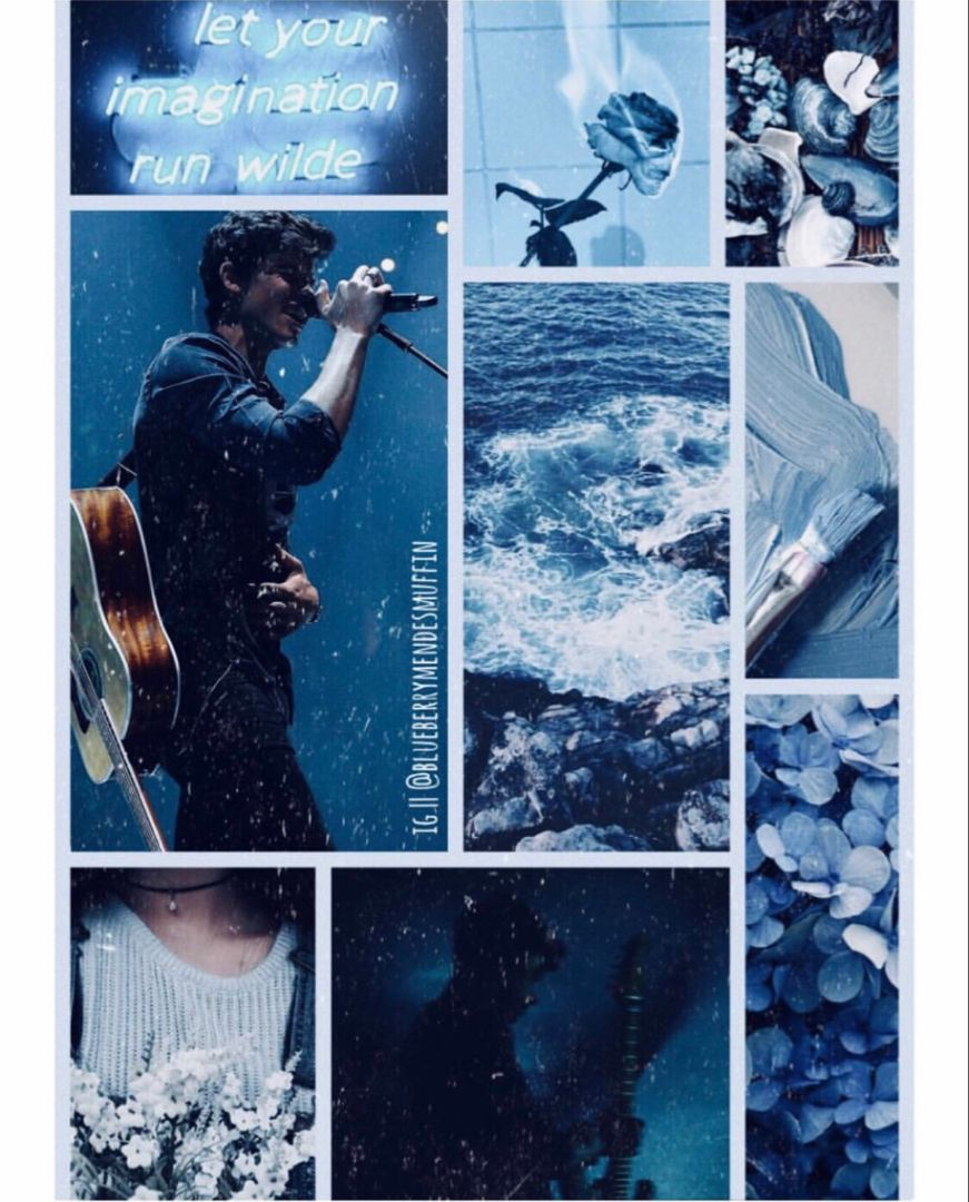 Shawn Mendes Blue Aesthetic