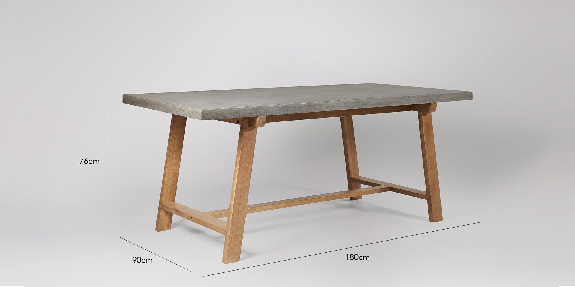 Amherst Dining Table Swoon Editions Table Concrete Dining
