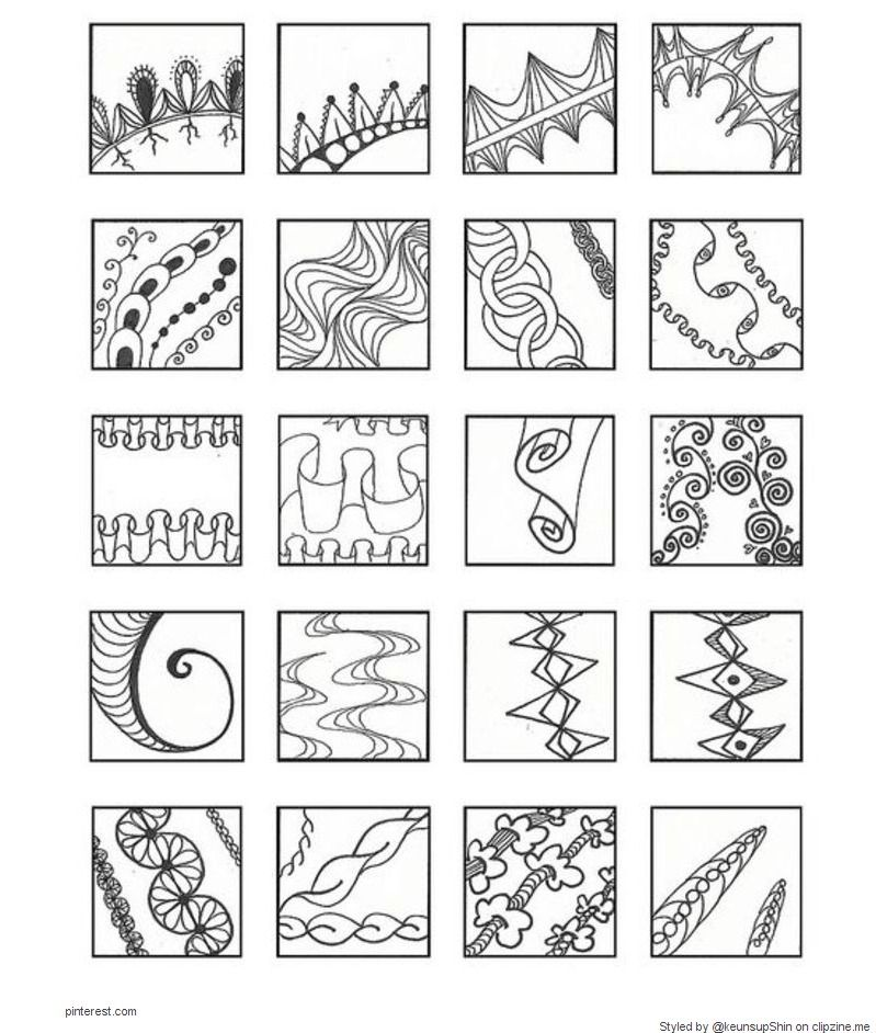 Zentangle Patterns | zentangle arts | Pinterest