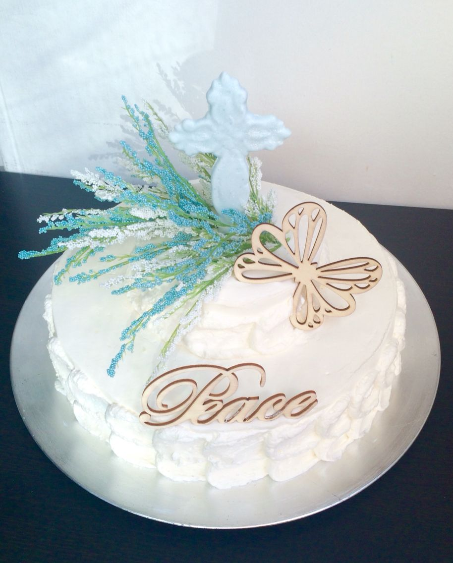Vintage Themed Celebration Of Life Cake With Images Custom