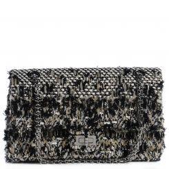 3af348055fa4 CHANEL Tweed 2.55 Reissue 225 Flap Black White | Fashion bag ...