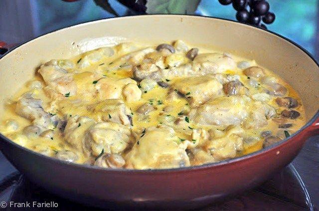 Fricassée de poulet à l\u0027ancienne (Julia Child\u0027s Old-Fashioned - cuisine a l ancienne