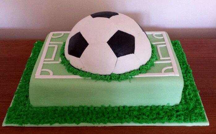 Soccer Themed Fondant Cake Football Cake Soccer Field Cake World Cup Cake Soccer Ball Made By Gdoyle