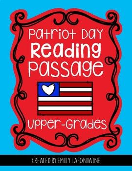 Patriot Day Reading Comprehension Passage | Will Teach for ...