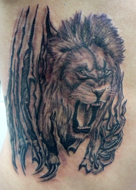 Tiger Ripping Through Skin Tattoo Google Search Tattoos Animal Tattoo Tattoo Designs