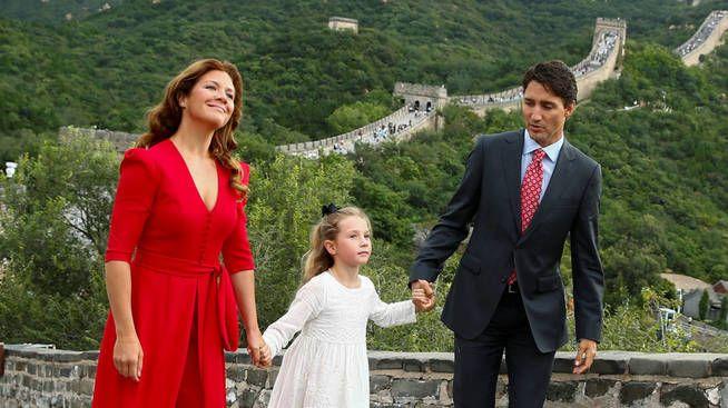 Justin y Sophie junto a su hija, Ella-Grace (Reuters)