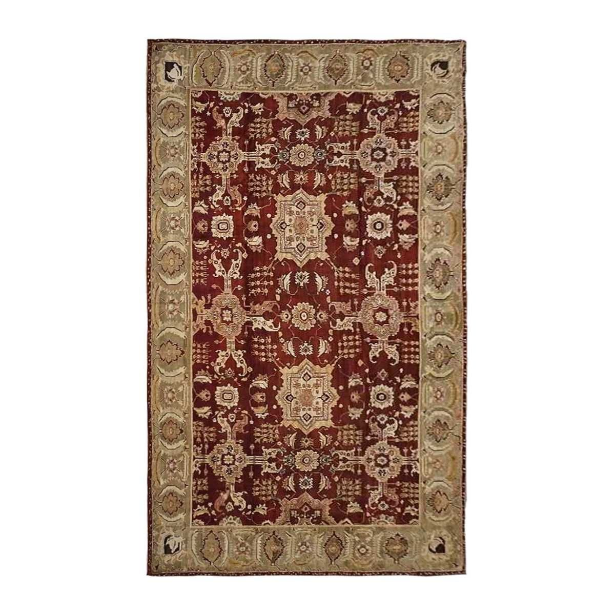Hand Knotted Agra Rug 9 4 X 15 7 In 2020 Agra Rug Hand Knotted Rugs
