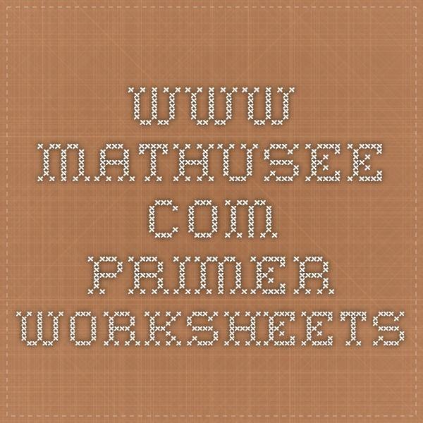 Www Mathusee Com Primer Worksheets Math U See Homeschool Math Math
