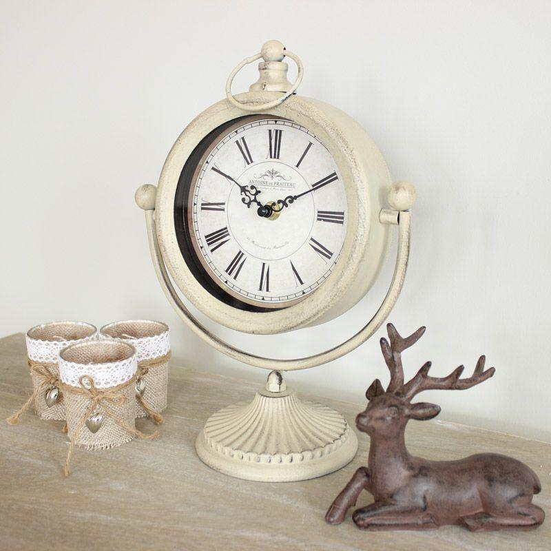 Cream mantelpiece clock