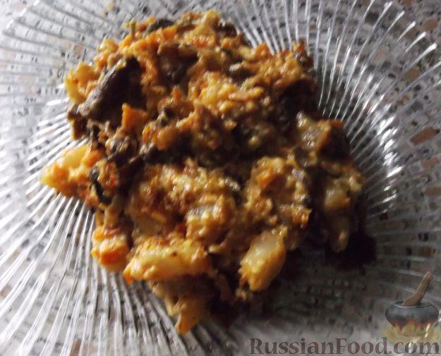 Рецепт Тушеный картофель с грибами, cостав: картофель, лук ...