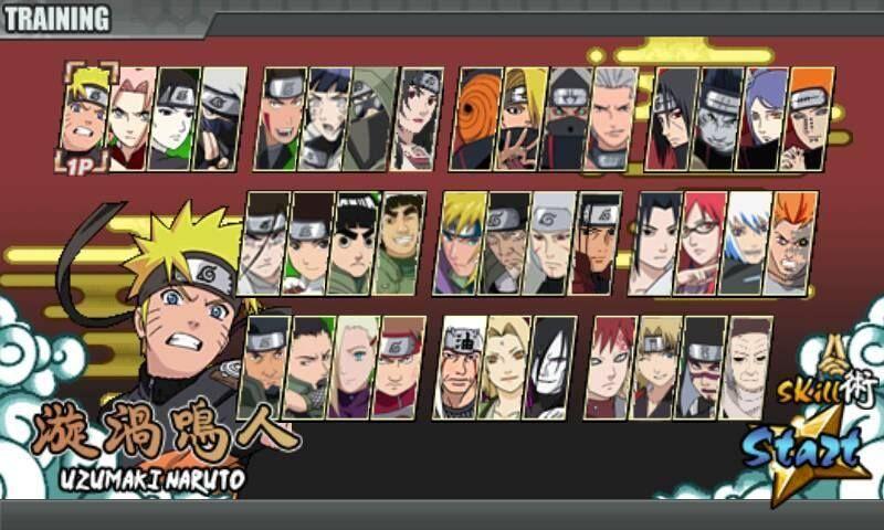 Download Naruto Senki Versi 1.17 APK Full Charackter